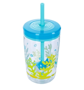 Дитячий стакан Contigo, Floating straw tumbler, 470мл (1000-0772)