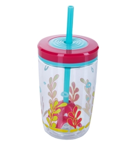 Дитячий стакан Contigo, Floating straw tumbler Squid 470мл (1000-0773)