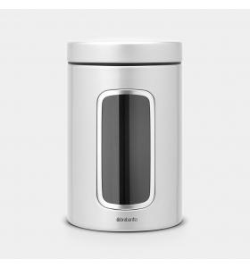 Контейнер для сипучих продуктів Brabantia Metallic Grey, 1,4 л (243509)