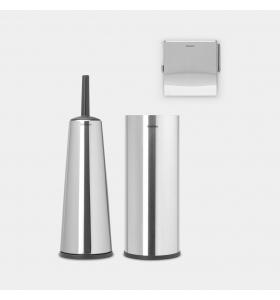 Набір аксесуарів для ванної кімнати Brabantia Matt Steel 3 пр. (280665)