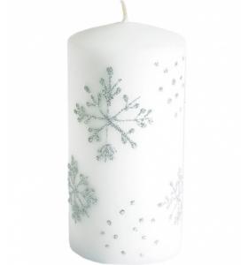 Свічка циліндр новорічна 15х7х7см (97975 PL)