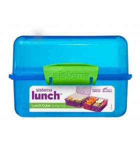 Ланч-бокс Sistema Lunch Cube, 1,4 л (31735-1 blue)