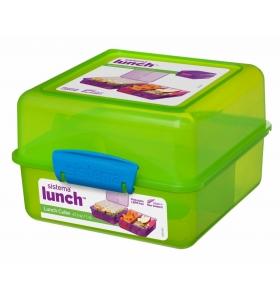 Ланч-бокс Sistema Lunch Cube, 1,4 л (31735-2 green)