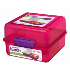 Ланч-бокс Sistema Lunch Cube, 1,4 л (31735-4 pink)