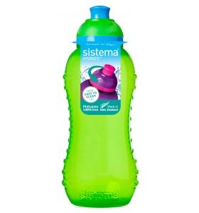 Пляшка для води Sistema Twist 'n' Sip™ Squeeze Green, 330 мл (780-2 green)